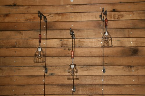 Industrial Wall SconcePulley Wall Light Pendant With Easy Height Adjustment To Get The Light Exactly Where You Want It 0 5