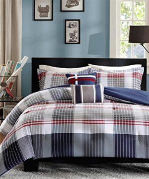 Intelligent Design Caleb 4 Piece Comforter Set TwinTwin X Large Blue 0 300x360