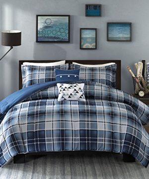 Intelligent Design Camilo 4 Piece Comforter Set Blue TwinTwin X Large 0 300x360