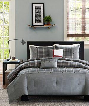 Intelligent Design Daryl 4 Piece Comforter Set TwinTwin X Large Grey 0 300x360