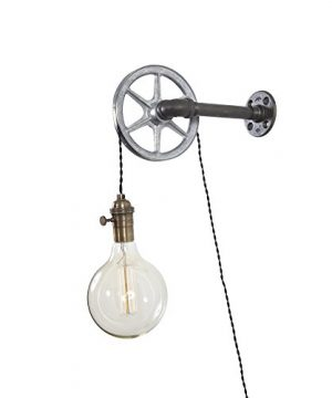Iron Pipe Industrial Wall Pulley Light By West Ninth Vintage 1 Light 0 300x360
