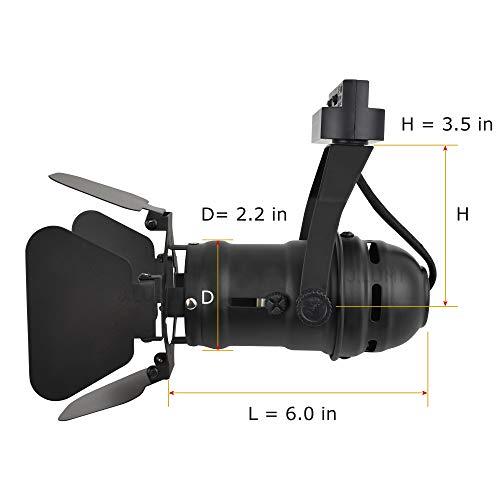JLUMI TRK9601 LED Track Light Head Vintage Industrial Track Light Line Voltage Track Head For Art And Wall Decoration 5W LED Spotlight Bulb Included Adjustable Title Angle Black 0 0