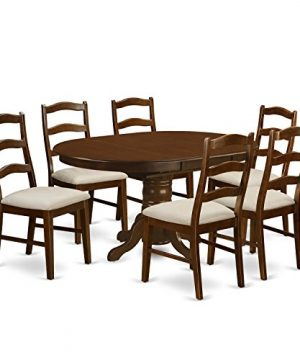 KEHE7 ESP C 7 Pc Set Kenley With A Leaf And 6Upholstered Dinette Chairs In Espresso 0 300x360