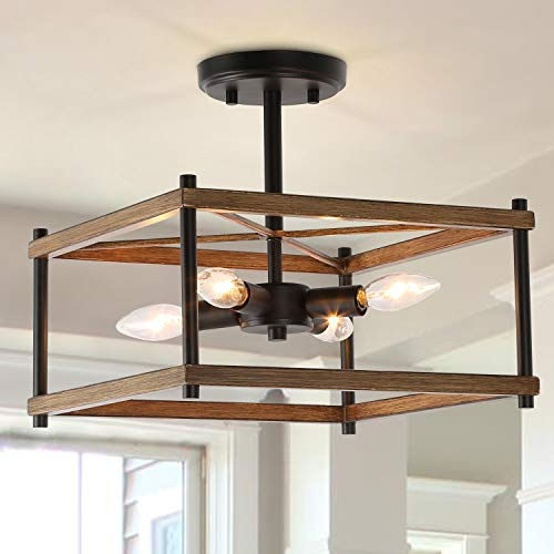 Ksana Semi Flush Mount Farmhouse Light
