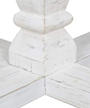 Kate And Laurel Bellmead Wood Round Pedestal Dining Table Natural And White 0 1 300x360