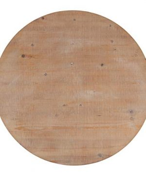 Kate And Laurel Bellmead Wood Round Pedestal Dining Table Natural And White 0 3 300x360