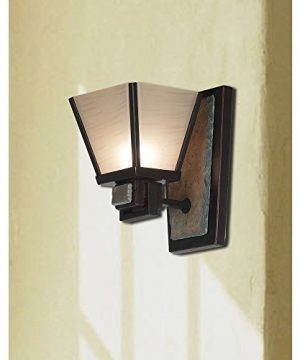 Kenroy Home 91601ORB Clean Slate 1 Light Sconce Oil Rubbed Bronze With Natural Slate 0 0 300x360