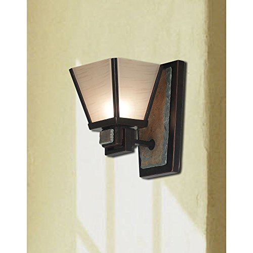 Kenroy Home 91601ORB Clean Slate 1 Light Sconce Oil Rubbed Bronze With Natural Slate 0 0