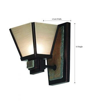 Kenroy Home 91601ORB Clean Slate 1 Light Sconce Oil Rubbed Bronze With Natural Slate 0 2 300x360