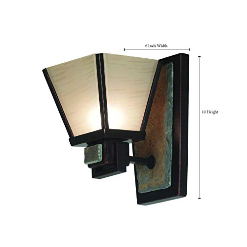 Kenroy Home 91601ORB Clean Slate 1 Light Sconce Oil Rubbed Bronze With Natural Slate 0 2