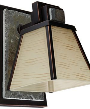 Kenroy Home 91601ORB Clean Slate 1 Light Sconce Oil Rubbed Bronze With Natural Slate 0 300x360