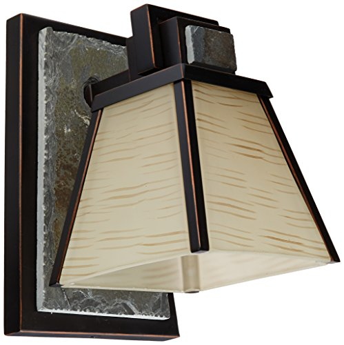Kenroy Home 91601ORB Clean Slate 1 Light Sconce Oil Rubbed Bronze With Natural Slate 0