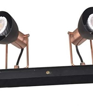 KimYan Plug In Track Lighting PendantBronze And Black Finishwith OnOff Switchwith MR16GU10 LED BulbsWarm WhiteCRI90 0 2 300x360