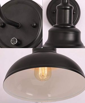 Kingmi Wall Lamp Dimmable Wall Sconce Black Industrial Vintage Farmhouse Wall Sconce Lighting Gooseneck Wall Light Fixture With Plug In Cord And On Off Toggle Switch For Bedroom Nightstand 0 5 300x360
