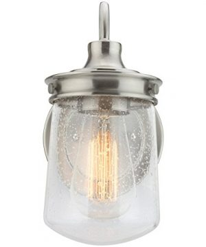 Kira Home Mason 10 Industrial Wall Sconce Seeded Glass Shade Brushed Nickel Finish 0 0 300x360
