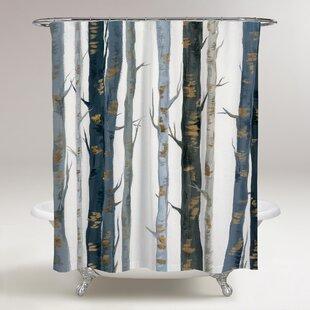Kulkarni+Behind+the+Woods+Single+Shower+Curtain