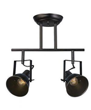LALUZ Semi Flush Mount Adjustable Track Fixture 2 Light Modern Ceiling Spotlight 2 Head 0 300x360