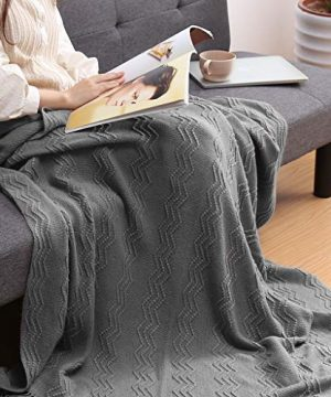 LANGRIA Throw Blanket Soft Decorative Knitted Blanket With Tassels Attractive Wavy Pattern Warm And Lightweight For Sofa Coach Bed At Home And Outdoor Machine Washable Eco Friendly 50x60 Inch Gray 0 2 300x360