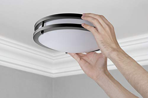LB72160 LED Flush Mount Ceiling Light 12 Inch 15W 150W Equivalent Dimmable 1200lm 5000K Daylight Oil Rubbed Bronze Round Lighting Fixture For KitchenHallwayBathroomStairwell 0 1