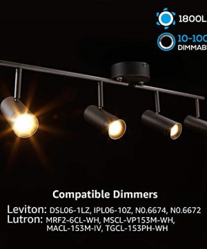 LEONLITE 28W LED Dimmable Track Light ETL Listed 4 In 1 Ceiling Spot Lighting 1800lm Flexibly Rotatable Light Head For Accent Lighting Decorative Lighting 5 Years Warranty 0 0 300x360