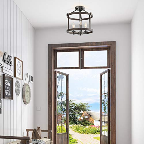Lnc A03411 Farmhouse Semi Flush Mount