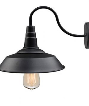 LNC Wall SconceFarmhouse Barn Gooseneck Light FixtureAntique Brass And Black Matte Finish For Bedroom Bathroom A0224101 0 300x360