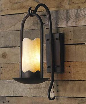 Ladiqi Industrial Vintage Wall Sconce Lighting Fixture Loft Retro Indoor Wall Lamp Light Cylindrical Alabaster Shade Beside Light Sconce Black For Bar Restaurant Staircase 0 300x360