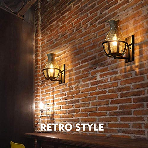 Ladiqi Vintage Country Style Candle Design Wall Sconce Lighting Wall Lamp Light Fixture With Unique Seedy Glass Shade Indoor Outdoor 0 0