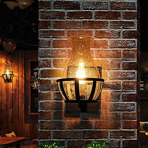 Ladiqi Vintage Country Style Candle Design Wall Sconce Lighting Wall Lamp Light Fixture With Unique Seedy Glass Shade Indoor Outdoor 0 1