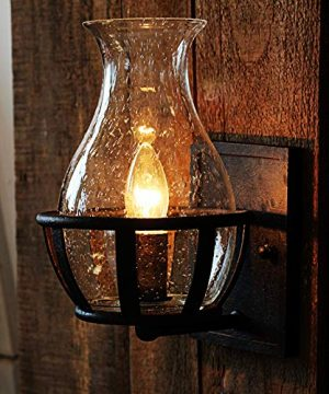 Ladiqi Vintage Country Style Candle Design Wall Sconce Lighting Wall Lamp Light Fixture With Unique Seedy Glass Shade Indoor Outdoor 0 300x360