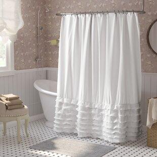 Lafleur+Solid+Color+Single+Shower+Curtain
