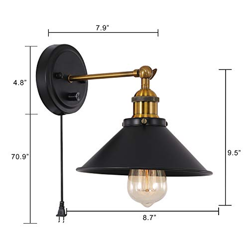 Larkar Dimmable Plug In Wall Sconce 2