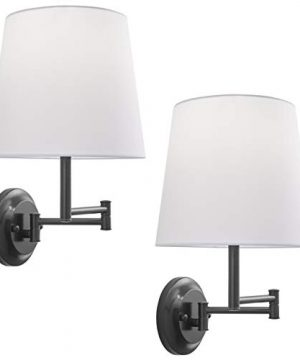 Lemanca Swing Arm Wall Lamp Bronze Wall Sconces Set Of Two LL WL708 6DB 2PACK 0 300x360