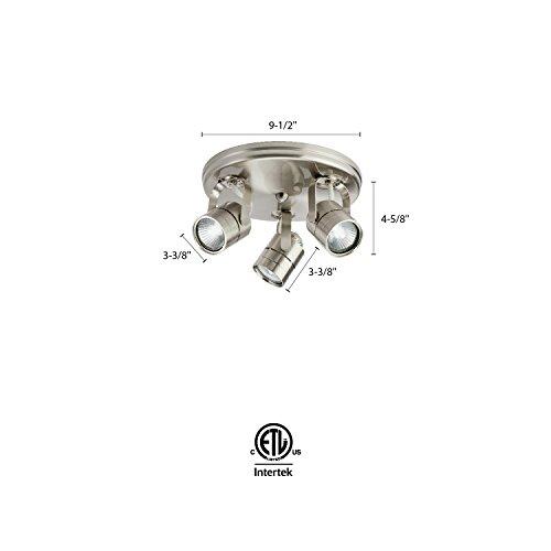 Lithonia Lighting LTKMSBK MR16GU10 3R BN M4 Adjustable Fixed Round Flush Mount Halogen Line Voltage Fixed Track 3 Lamp Round 480 LumensHead 120 Volts 50 Watts Brushed Nickel 0 0