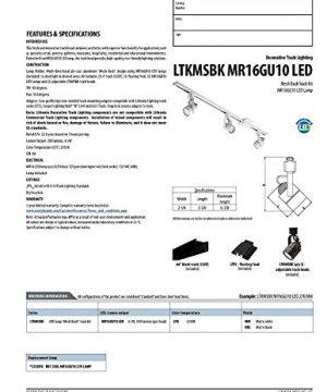 Lithonia Lighting LTKMSBK MR16GU10 3R BN M4 Adjustable Fixed Round Flush Mount Halogen Line Voltage Fixed Track 3 Lamp Round 480 LumensHead 120 Volts 50 Watts Brushed Nickel 0 2 300x360