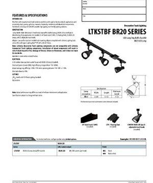 Lithonia Lighting LTKSTBF BR20 DBL M4 Adjustable Decorative 3 Head LED Lamp 500 LumensHead 120 Volts 8 Watts Dry Listed Black 0 1 300x360