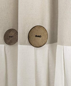 Lush Decor Button Window Curtain Single Panel 84 X 40 Linen 84x 40 0 0 300x360