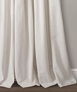 Lush Decor Button Window Curtain Single Panel 84 X 40 Linen 84x 40 0 1 300x360