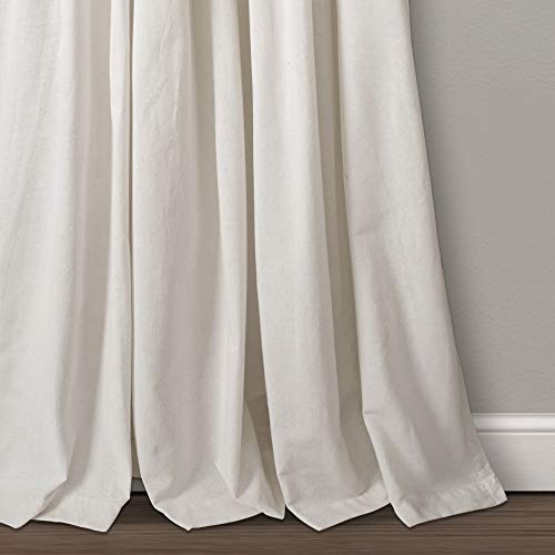 Lush Decor Button Window Curtain Single Panel 84 X 40 Linen 84x 40 0 1