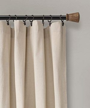 Lush Decor Button Window Curtain Single Panel 84 X 40 Linen 84x 40 0 2 300x360
