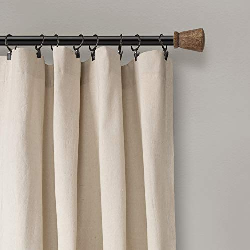 Lush Decor Button Window Curtain Single Panel 84 X 40 Linen 84x 40 0 2