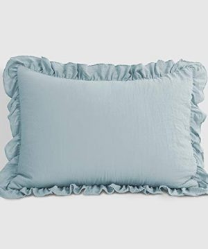 Lush Decor Lake Blue Reyna Comforter Ruffled 2 Piece Set With Pillow Sham Twin XL Size Bedding 0 3 300x360