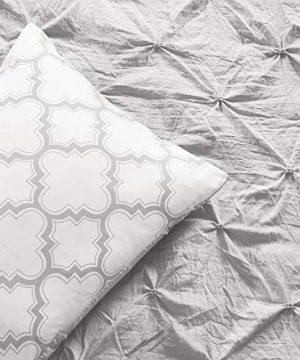 Lush Decor Ravello Pintuck Caroline Geo 5 Piece Comforter Set Twin XL Light Gray 0 2 300x360