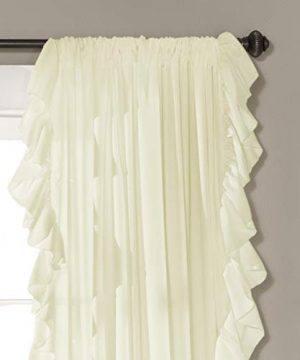 Lush Decor Reyna Ivory Window Panel Curtain Set For Living Dining Room Bedroom Pair 84 X 54 0 0 300x360