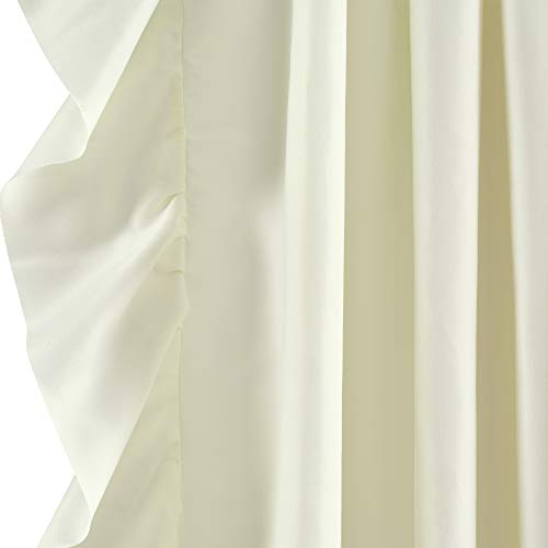 Lush Decor Reyna Ivory Window Panel Curtain Set For Living Dining Room Bedroom Pair 84 X 54 0 1