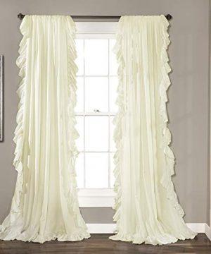 Lush Decor Reyna Ivory Window Panel Curtain Set For Living Dining Room Bedroom Pair 84 X 54 0 300x360