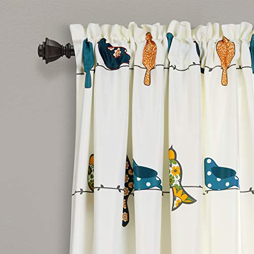 Lush Decor Rowley Birds Curtains Room Darkening Window Panel Set For Living Dining Bedroom Pair 84 L Multi 0 0