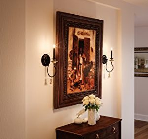 Luxury French Country Wall Sconce Small Size 1725H X 6W With Art Nouveau Style Elements Ancient Bronze Finish UHP2104 From The Alicante Collection By Urban Ambiance 0 1 300x282