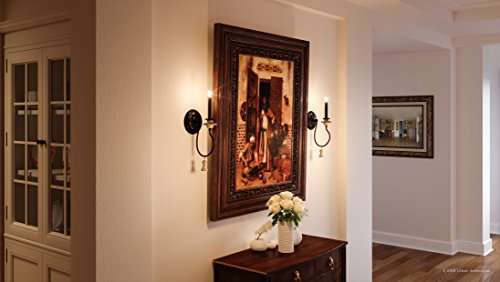 Luxury French Country Wall Sconce Small Size 1725H X 6W With Art Nouveau Style Elements Ancient Bronze Finish UHP2104 From The Alicante Collection By Urban Ambiance 0 1