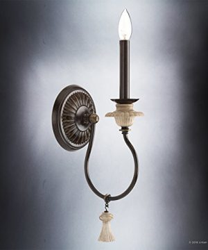 Luxury French Country Wall Sconce Small Size 1725H X 6W With Art Nouveau Style Elements Ancient Bronze Finish UHP2104 From The Alicante Collection By Urban Ambiance 0 2 300x360